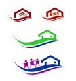 People and home logo set vector