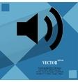 Speaker flat modern web design on a flat geometric vector