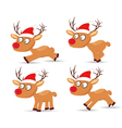Set of deers and hat christmas for design vector