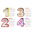 One two three four - progress background vector