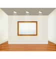 Empty white wall with picture vector
