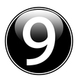 Number nine button vector