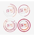 Thin line neat design logo set messages concept vector