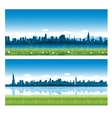 Cityscapes silhouettes background vector