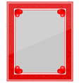 Designer red photo frame vector