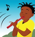 Flute player vector