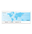 Bank cheque world vector