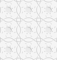 White squares and geometric flowers seamless vector