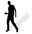 Man silhouette posing vector