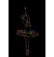 Neon ballerina vector