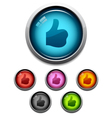 Like button icons vector