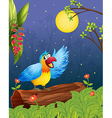 A colorful parrot in a bright evening vector