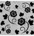 Seamless background of black lace vector