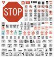 Usa regulatory road signs vector