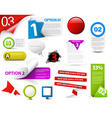 Set of red progress icons vector