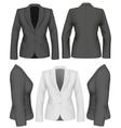 Ladies suit jacket vector