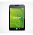 Smart phone with green screen and text vector