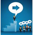 Business leadership social bubble people vector