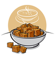 Croutons vector