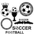 Soccer set vector