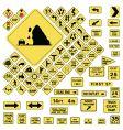Usa warning road signs vector