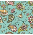 Doodle floral seamless pattern vector