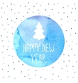 Christmas tree new years background vector