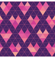 Seamless pattern - geometric hearts vector