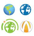 World earth planet logo element vector