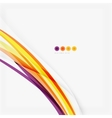 Purple and orange color lines on white vector