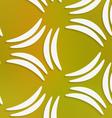 White banana shapes on mesh seamless pattern vector