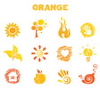 Orange theme vector
