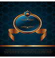 Royal background with artistic award golden frame vector