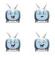 Funny cartoon retro tv character mimics vector