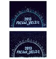 Beautiful inscription happy new year in a circle vector