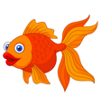 Cute golden fish cartoon vector