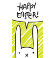Easter bunny speech bubble vector