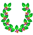 Green wreath vector