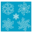 Beautiful deco small snowflakes vector