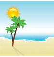 Beach landscape vector