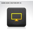 Monitor screen icon gold vector