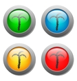 Palms icon on glass buttons vector