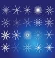Snowflake white art vector