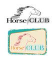 Horse club vector