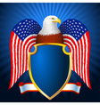 American eagle flag wing shield vector