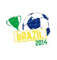 Brazil 2014 stamp vector