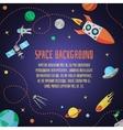 Space cartoon background vector