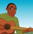 African guitar player vector