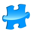 Blue puzzle 3d pie icon vector