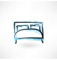 Bed grunge icon vector